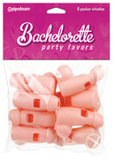 Bachelorette Party Favors Pecker Whistles 8 Pack Flesh